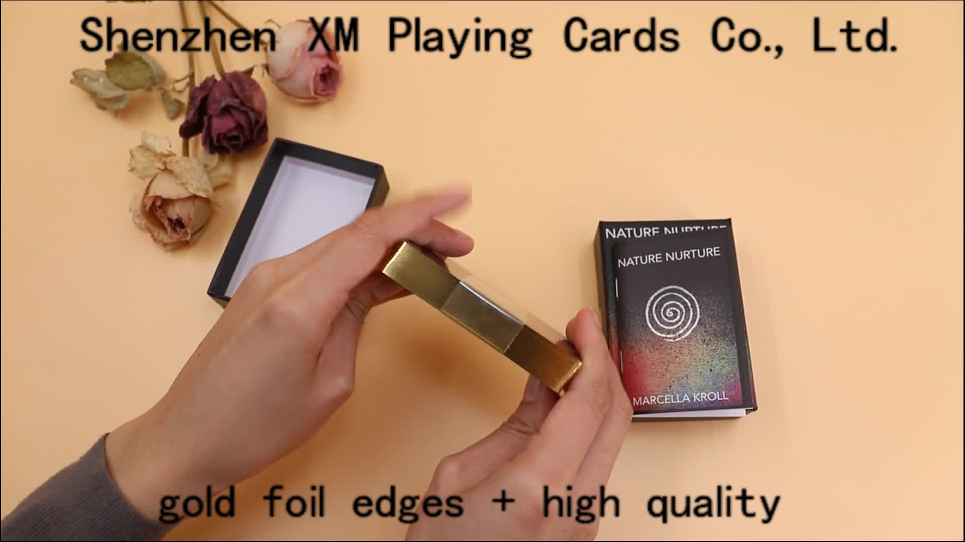 Custom Printing Golden Edges Tarot Cards With Glossy Surface Finishing