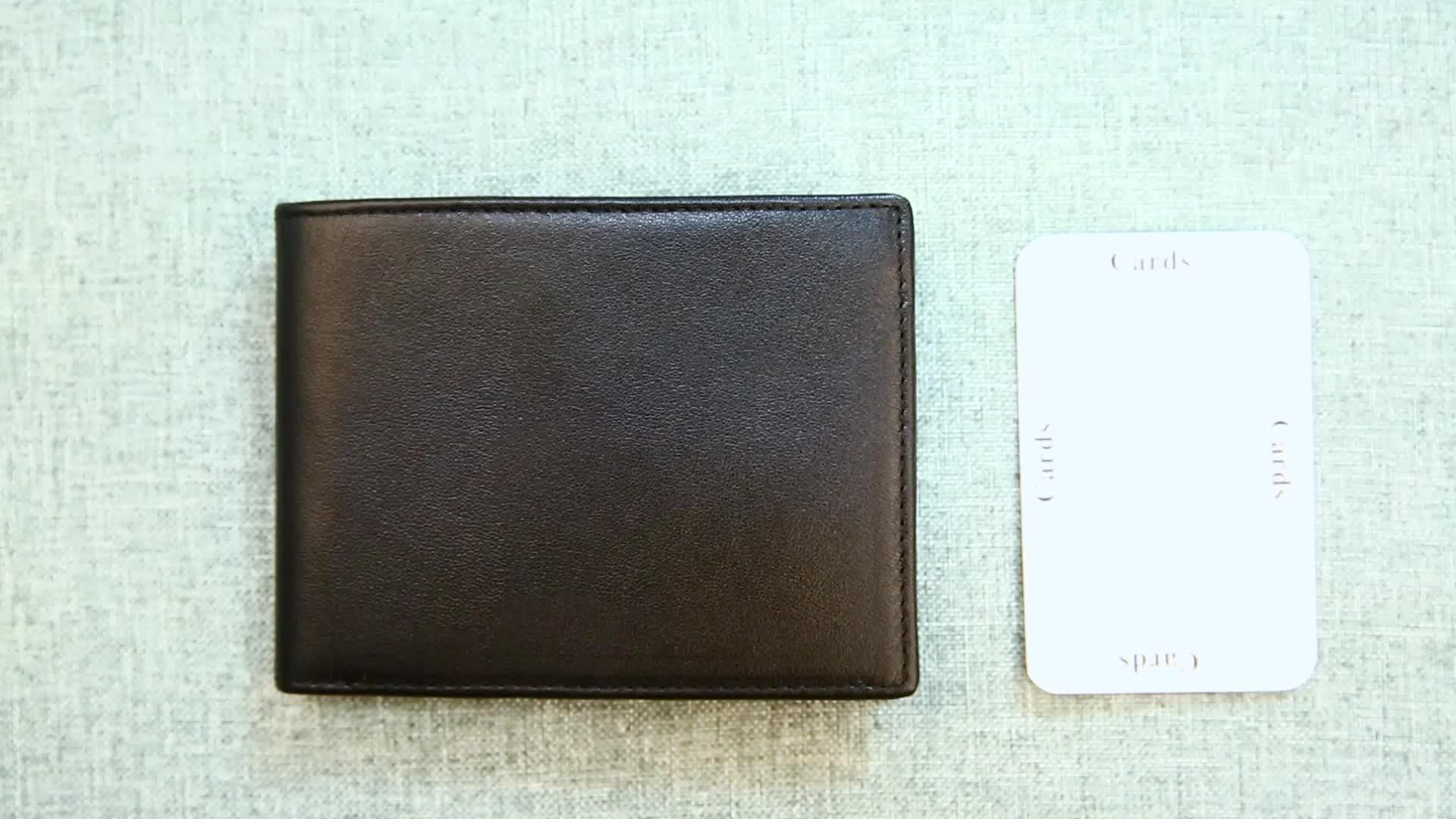 2019 Wholesale RFID Blocking Minimalist Smart Slim Card Holder Wallets Genuine Mens Leather Wallet