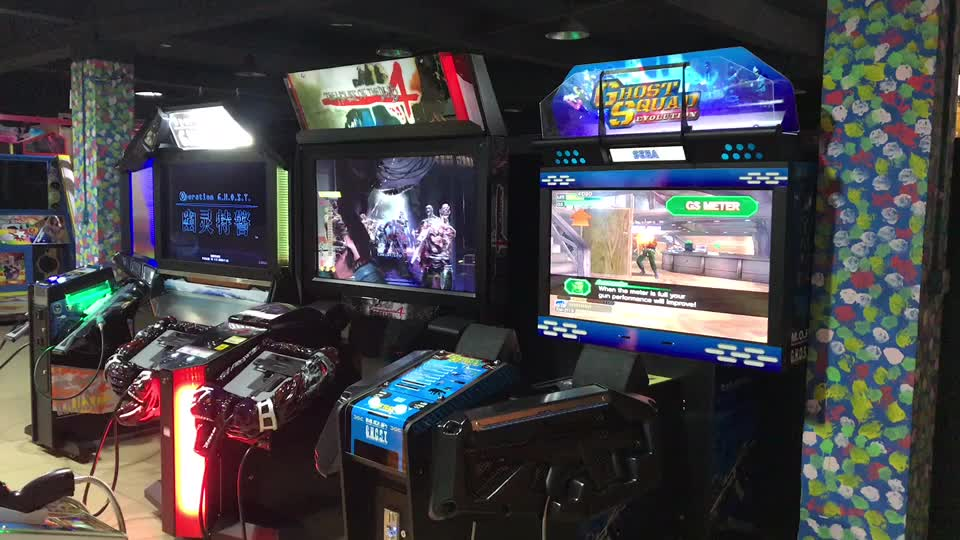 Cgw Indoor Elektronik Target Shooting Game untuk Orang Dewasa Inframerah Alien Laser Gun Shooting Game Mesin