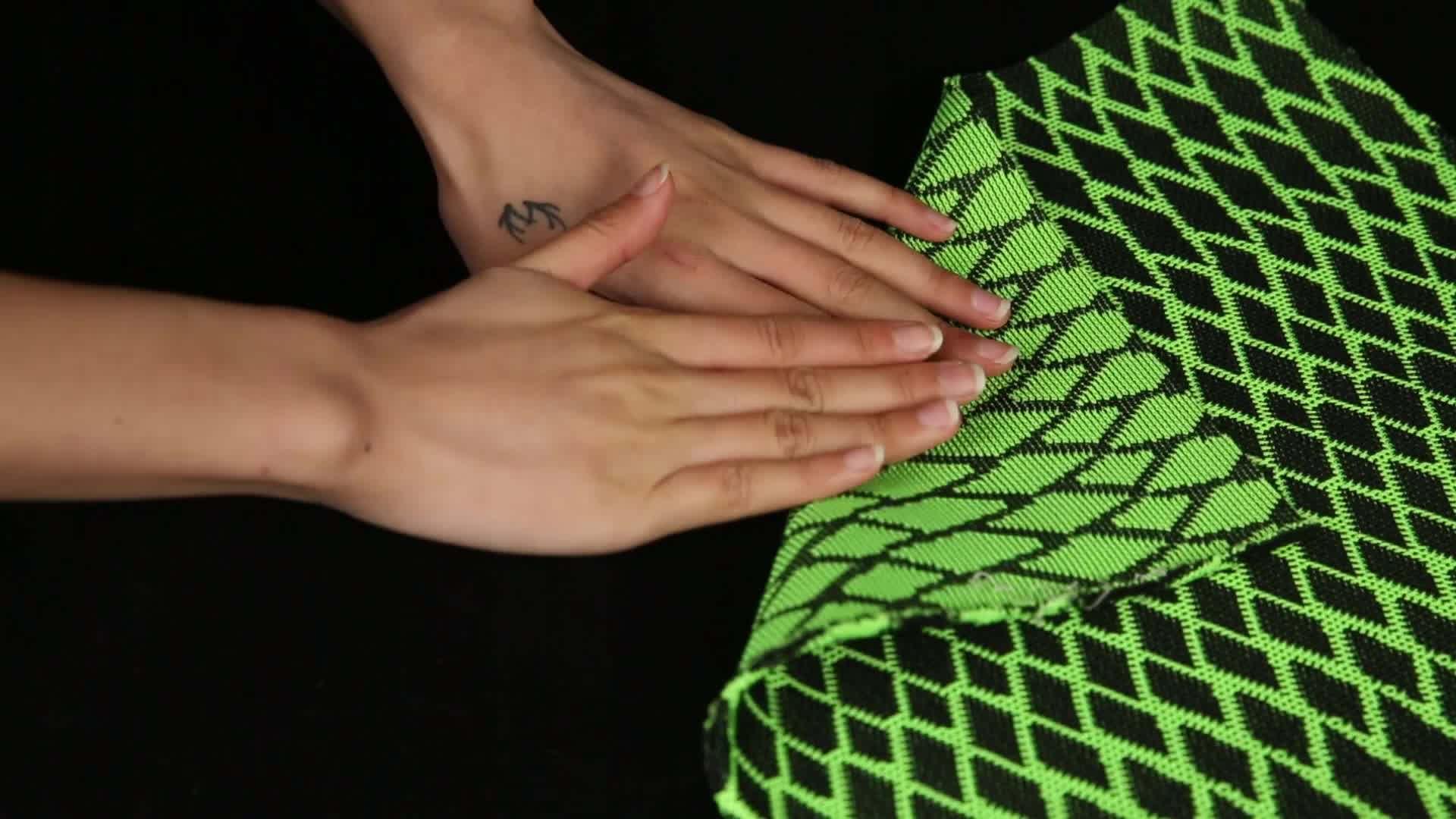 High quality fashion polyester woven fabric,plain nylon mesh fabric for sports shoes,flyknit knitted upper fabric