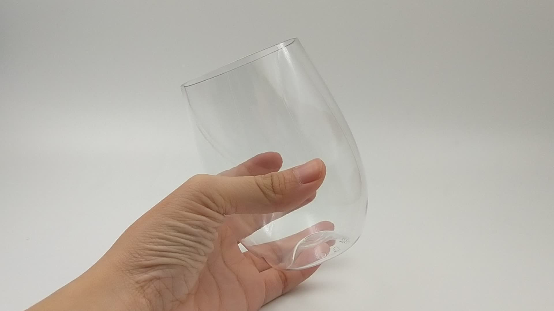 Factory Supply China Manufacturer Stemless Plastic Unbreakable Crystal Goblets Wine Glasses