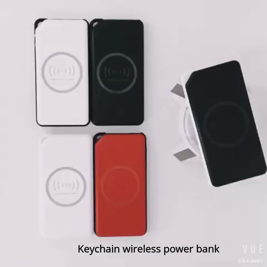 8000mAh customized slim qi wireless portable charger logo  power bank with Type-C input for all mobile phones