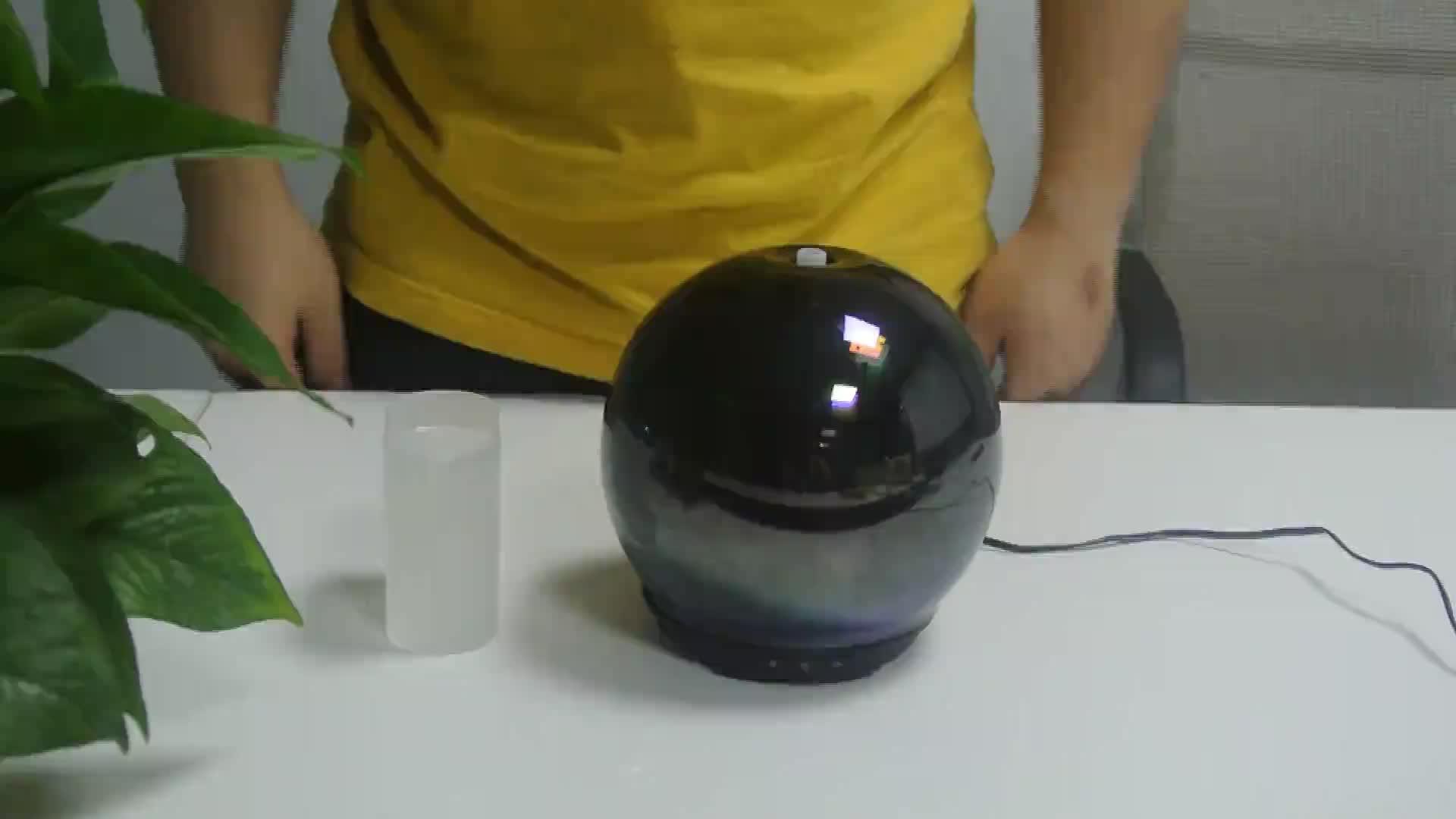Arcobaleno Vendite Calde Senza Fili Diffusore di Aroma 250 Ml di Vetro 3D Fuochi D'artificio Luce di Notte Intelligente Umidificatore