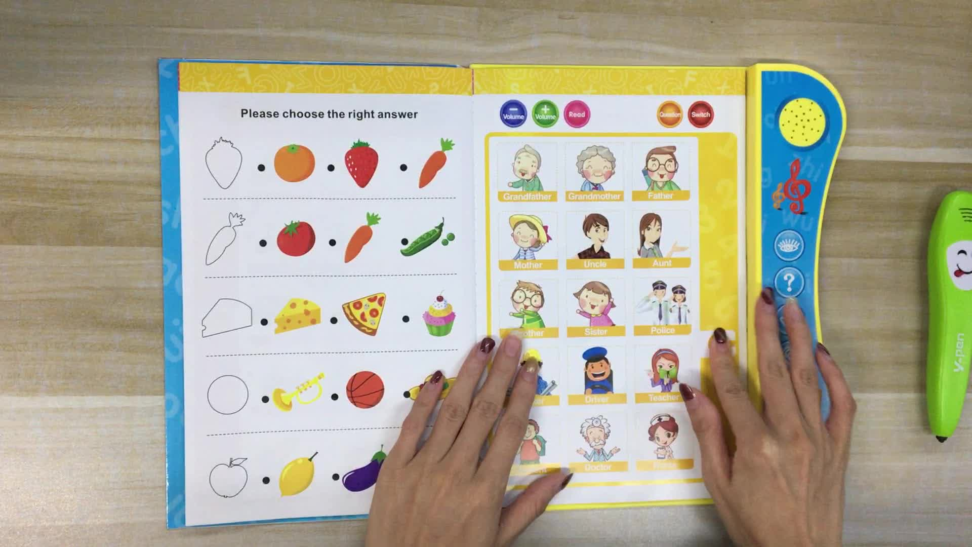 Preschool English Sound Book Kids Educational Early Learning Toy For Babies