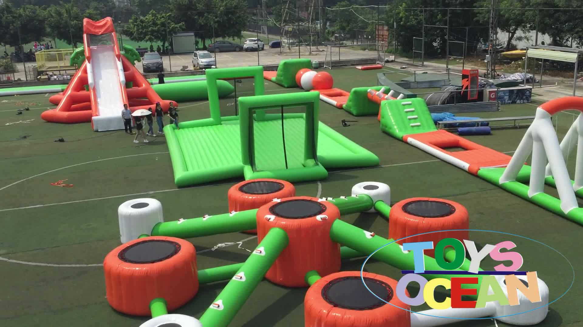 New Design Inflatable Floating Aqua Water Park For Adults