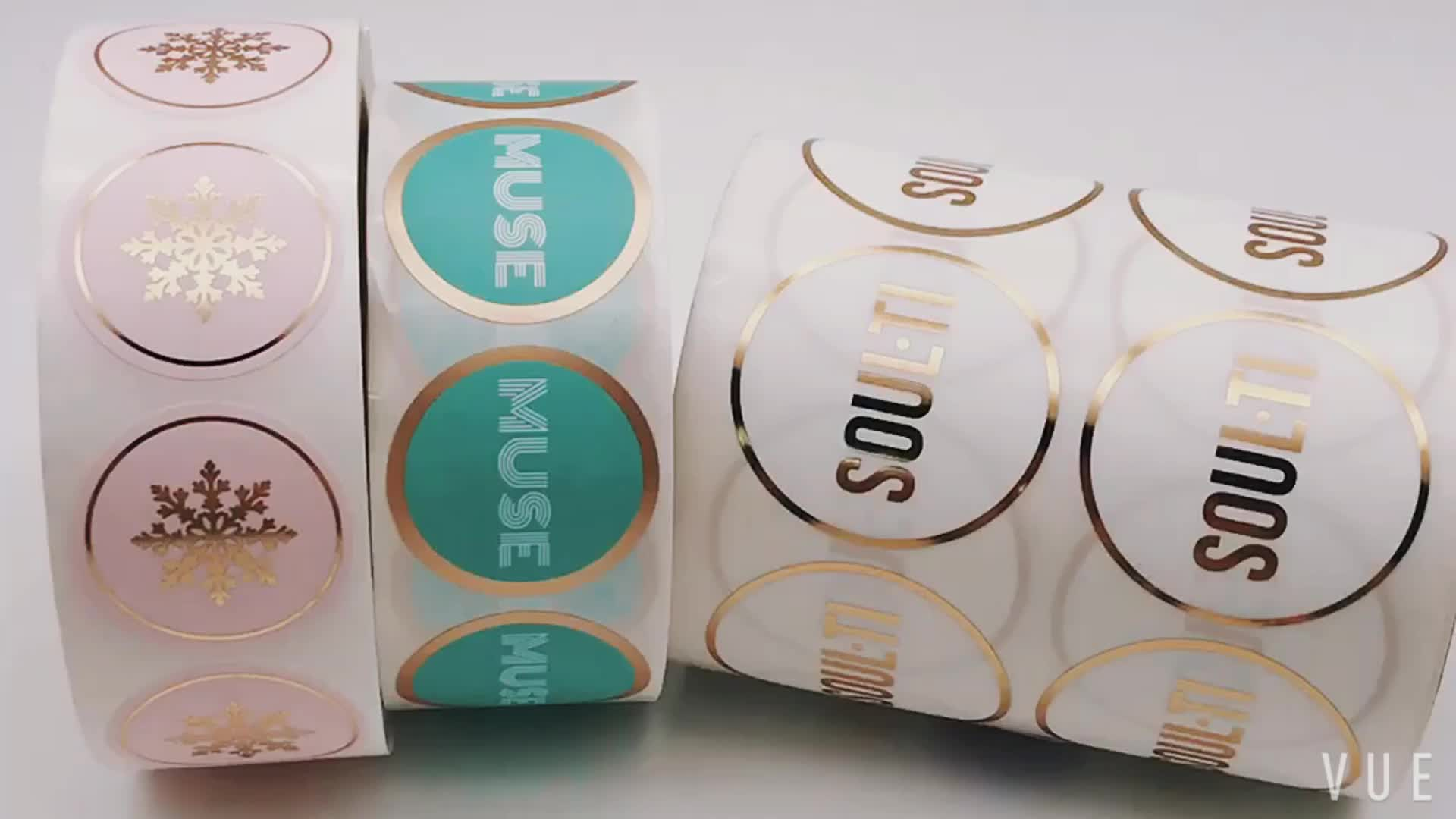 Foiled Custom Sticker Paper Printing Roll Adhesive Perfume Labels