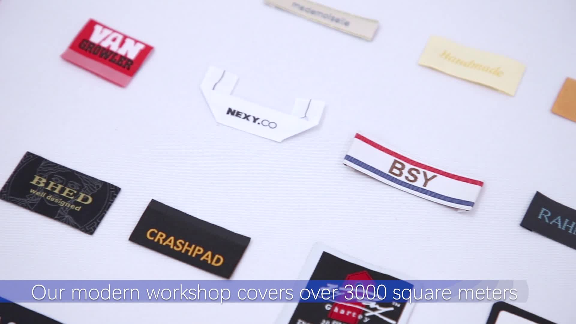 Personalizado logotipo de la marca ropa etiquetas para ropa etiqueta tejida