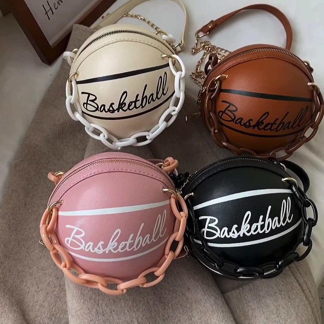 Basketball Form Kleine Acryl Kette Designer Umhängetaschen Für Frauen Mode Schulter Tasche Weibliche Luxus Handtaschen und Geldbörse