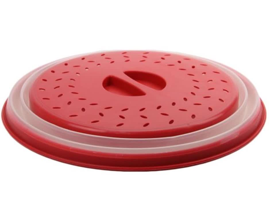 Premium Splatter Guard Food Plate Lid Collapsible Microwave Cover