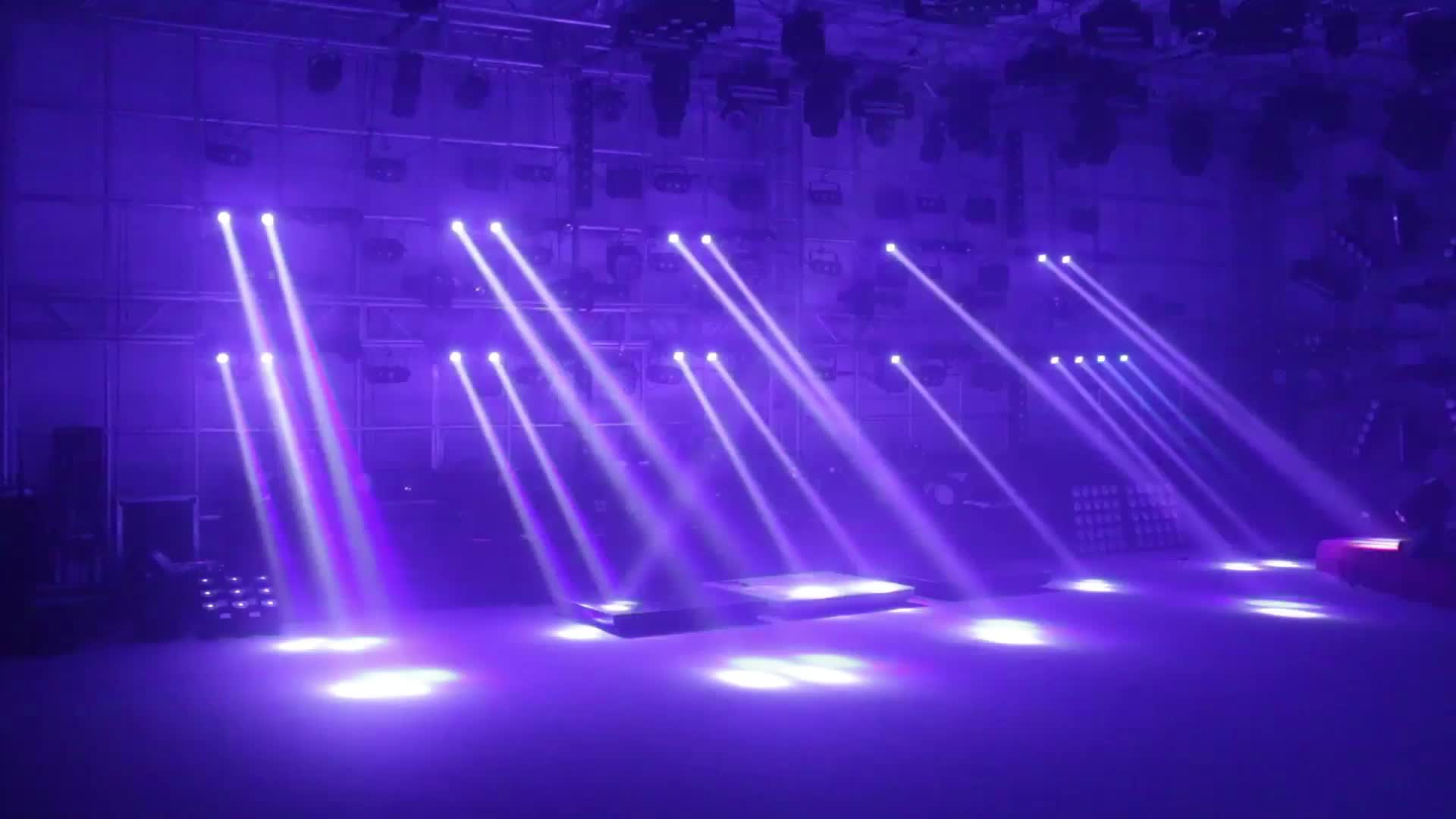 Meglio Neon O Led pro dj disco event lighting 4x32w rgbw 4in1 led 4heads dmx sharp dj beam  bar moving head stage lights for stage equipment set, view led stage light,