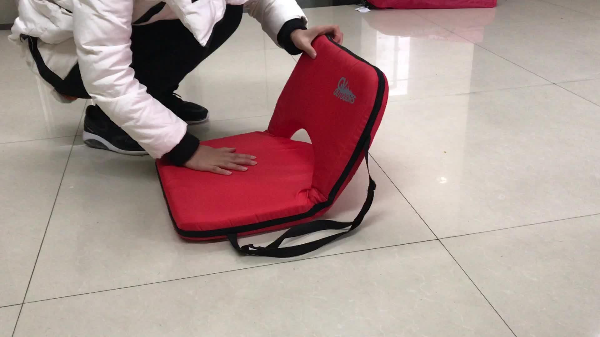 Suporte dobrável cadeira Para Trás Ajustável Praia Chão Tatami Cadeira Casa