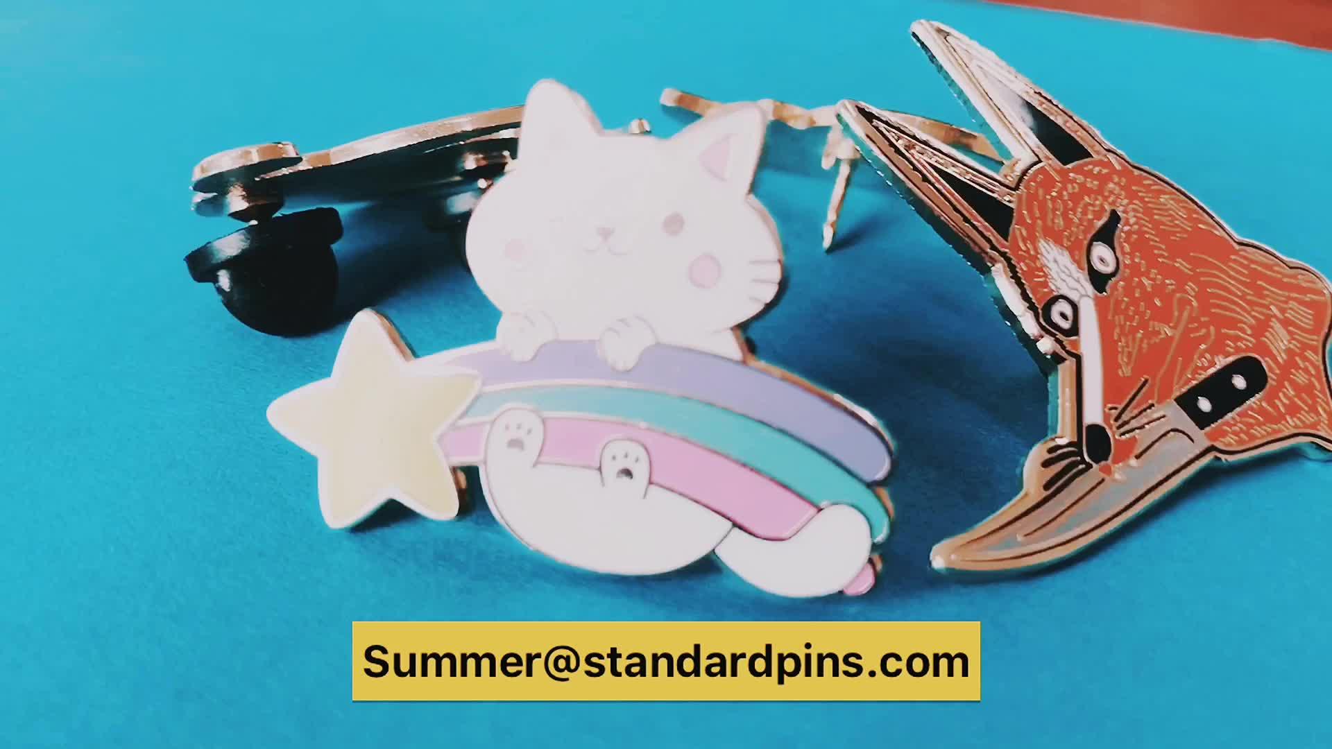 Wholesale Custom Design Metal Hard Enamel Rose Gold Plating Lapel Pin Badges