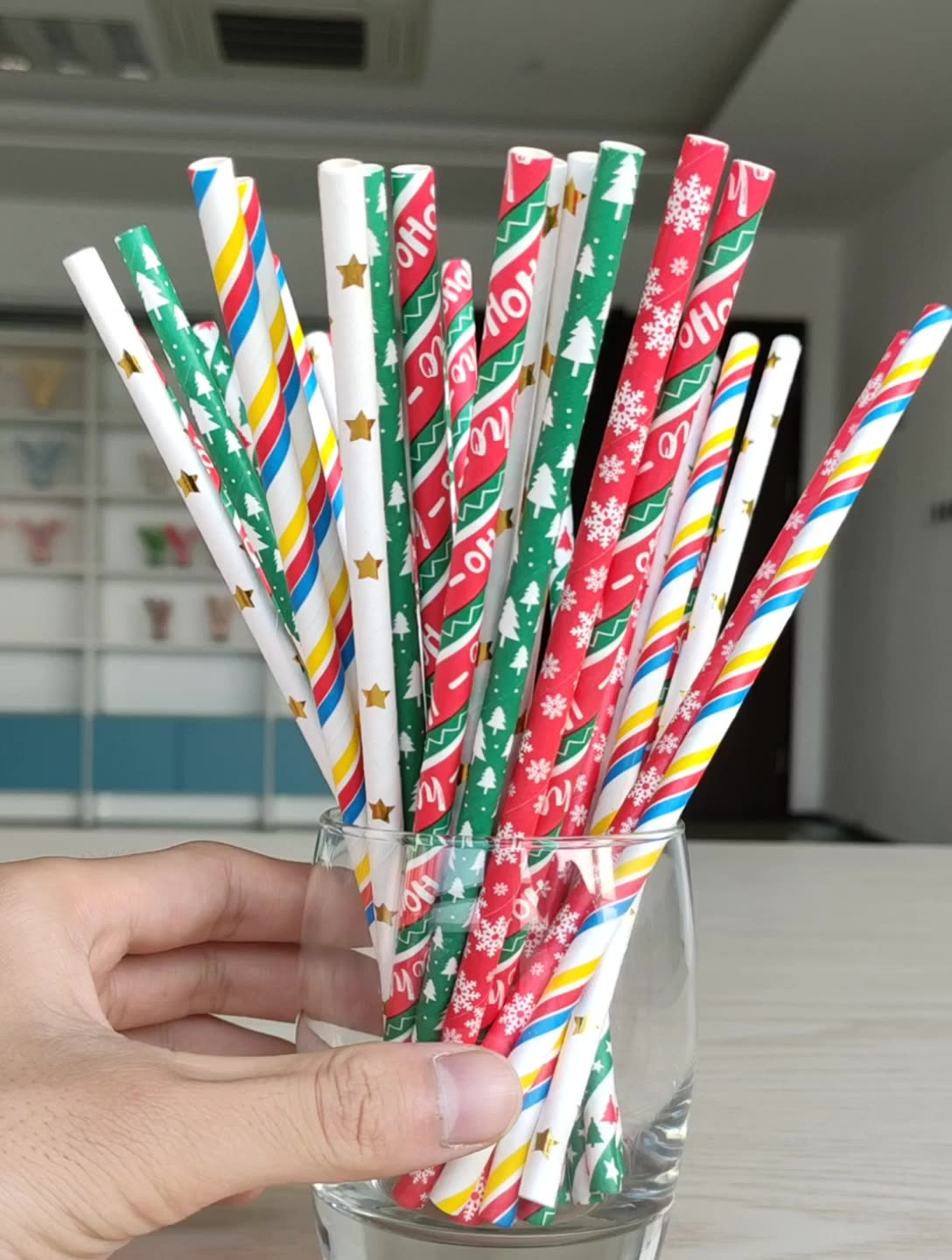 Hot Selling party decoration biodegradable paper drinking paper straw