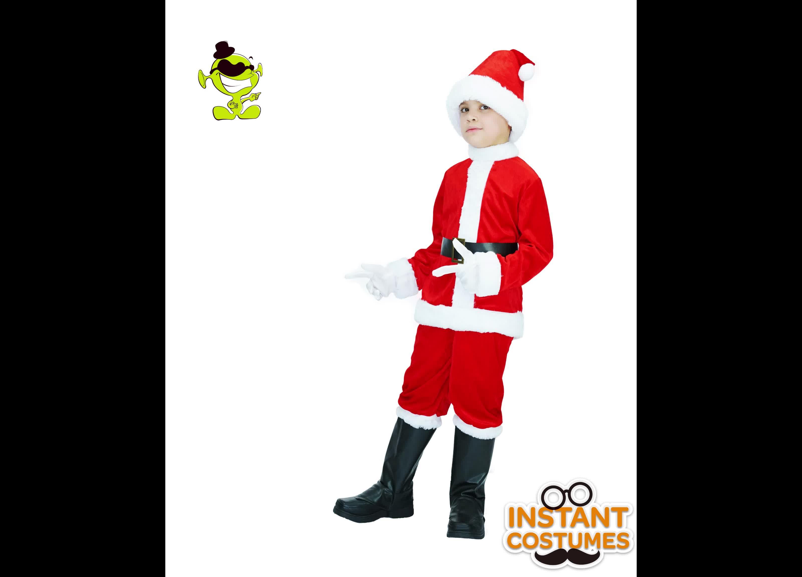 を新しいファッション冬子供サンタクロース衣装クリスマスの日
