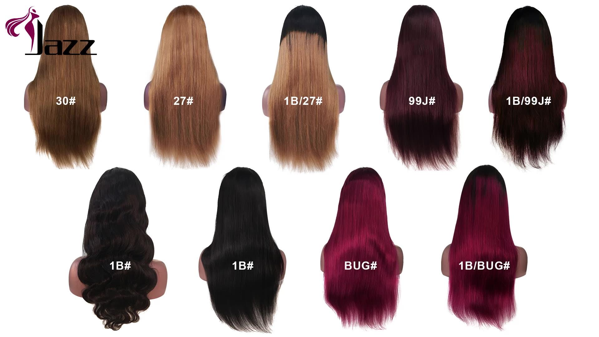 Rambut Palsu Pra-pencabutan 2X4 2X6 4X4 13X4 360 Wig Penutup Depan 100% Virgin Rambut Manusia Brasil Renda Depan Penuh Stok Tersedia