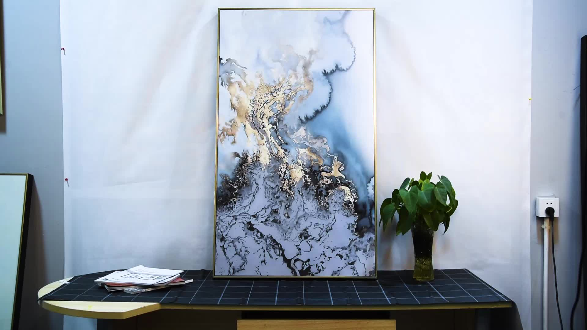 Beautiful Attractive Modern Colorful Black White Red Abstract Canvas Landscape Printing Painting for House Decor