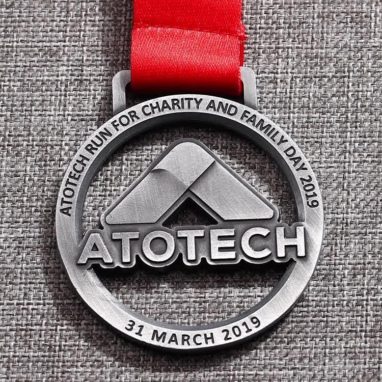 custom iron cross run medal