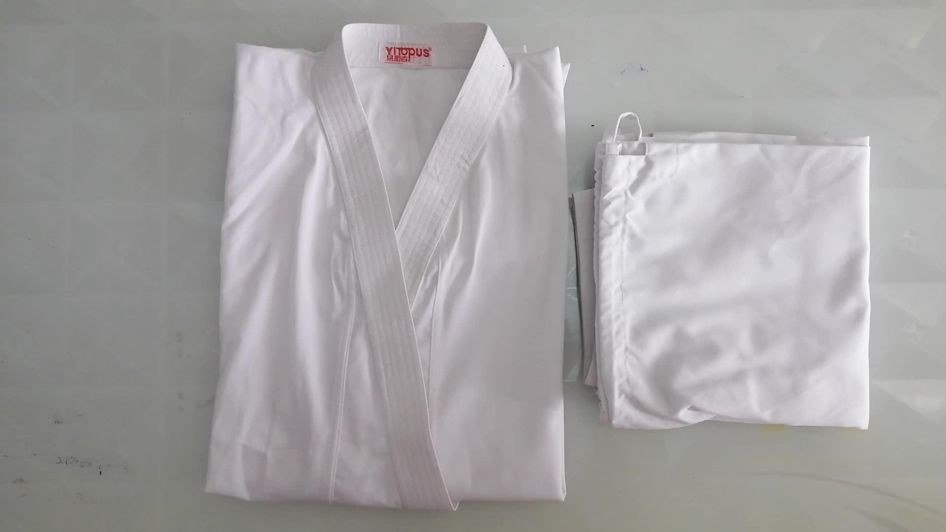 wkf goedgekeurd hoge kwaliteit witte karate gi karate uniform comfortabel voor training
