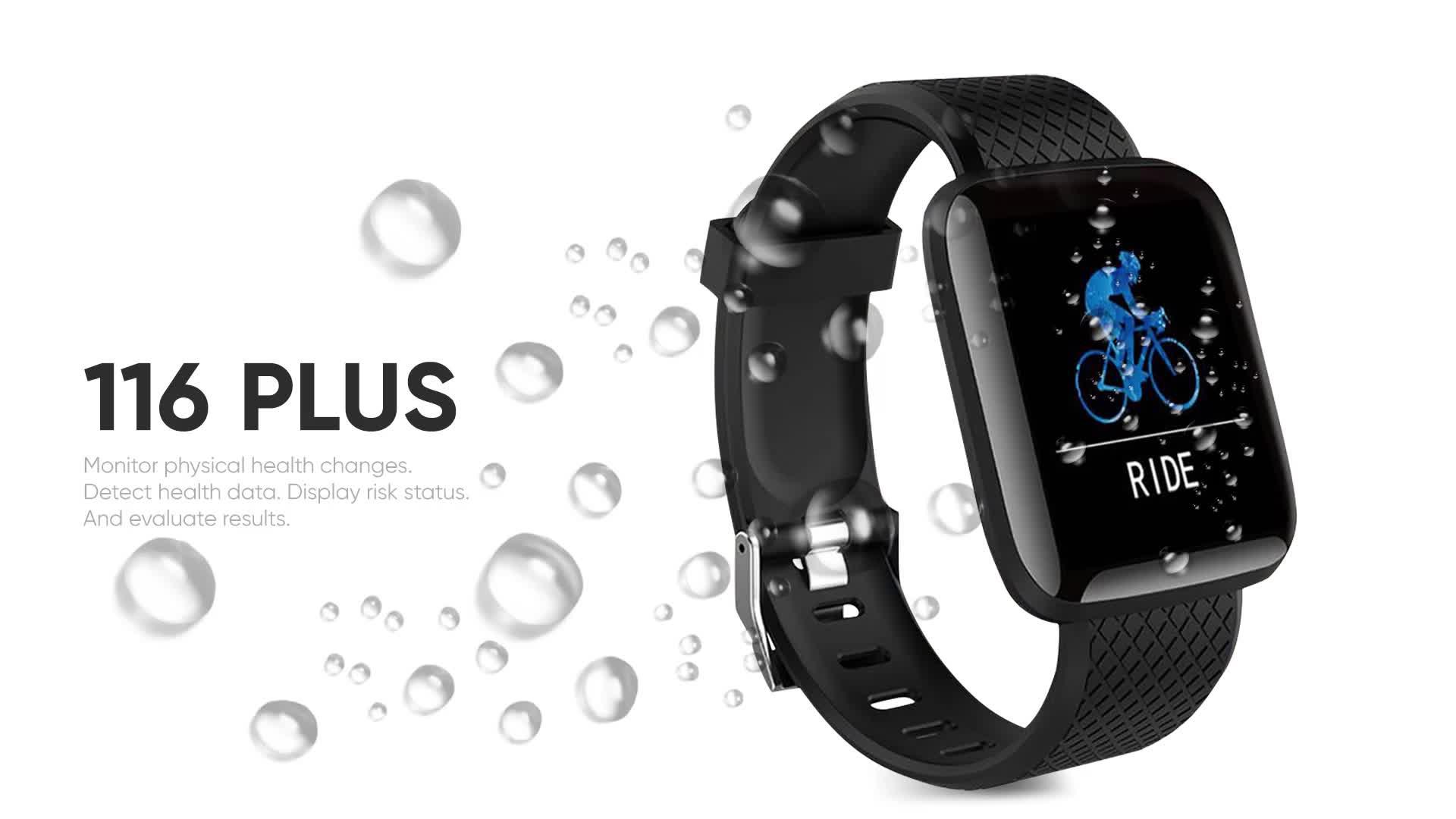 CE ROHS 116 Plus Heart Rate สร้อยข้อมือสมาร์ทนาฬิกา