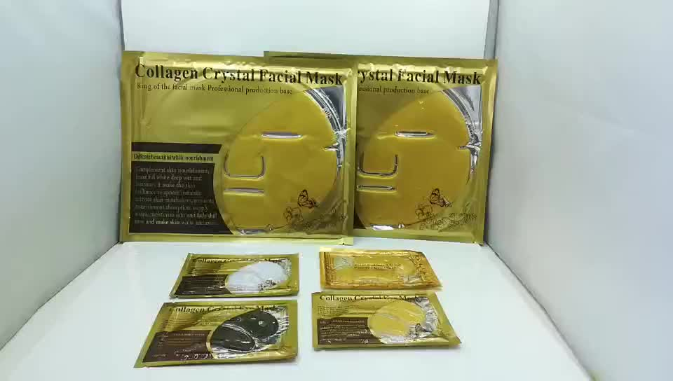 Private Label 24K Gold Pads Natural Eyelid Patches Collagen Crystal Eye Mask