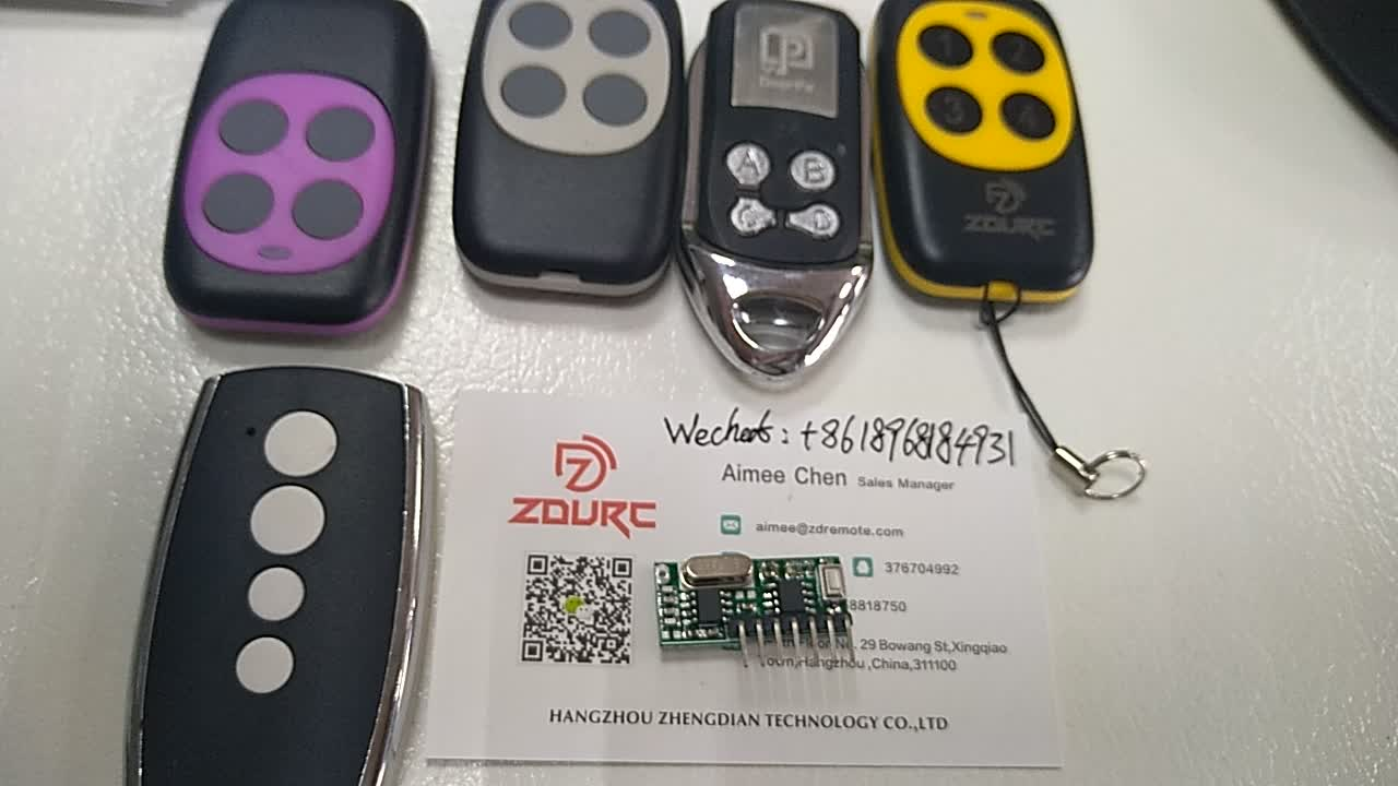 Wireless 433Mhz RF 4 Channels Decode Receiver Module and Transmitter in Qiachip