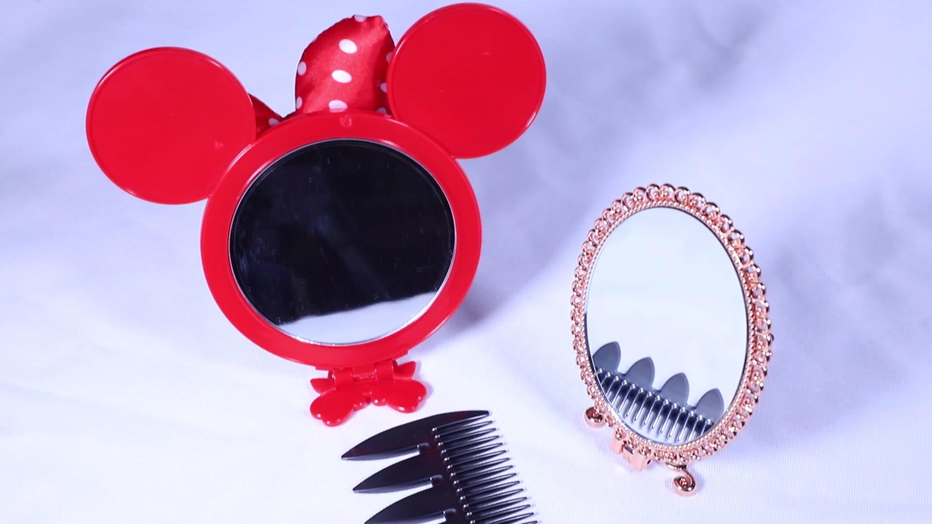 Personalizzato Privato Tasca piccolo trucco di lusso specchio per il Trucco del metallo specchio con cornice