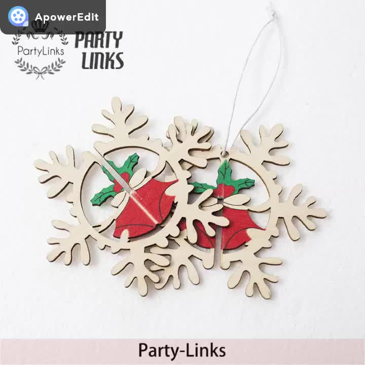 High Quality 3d Wooden Christmas Tree Ornaments