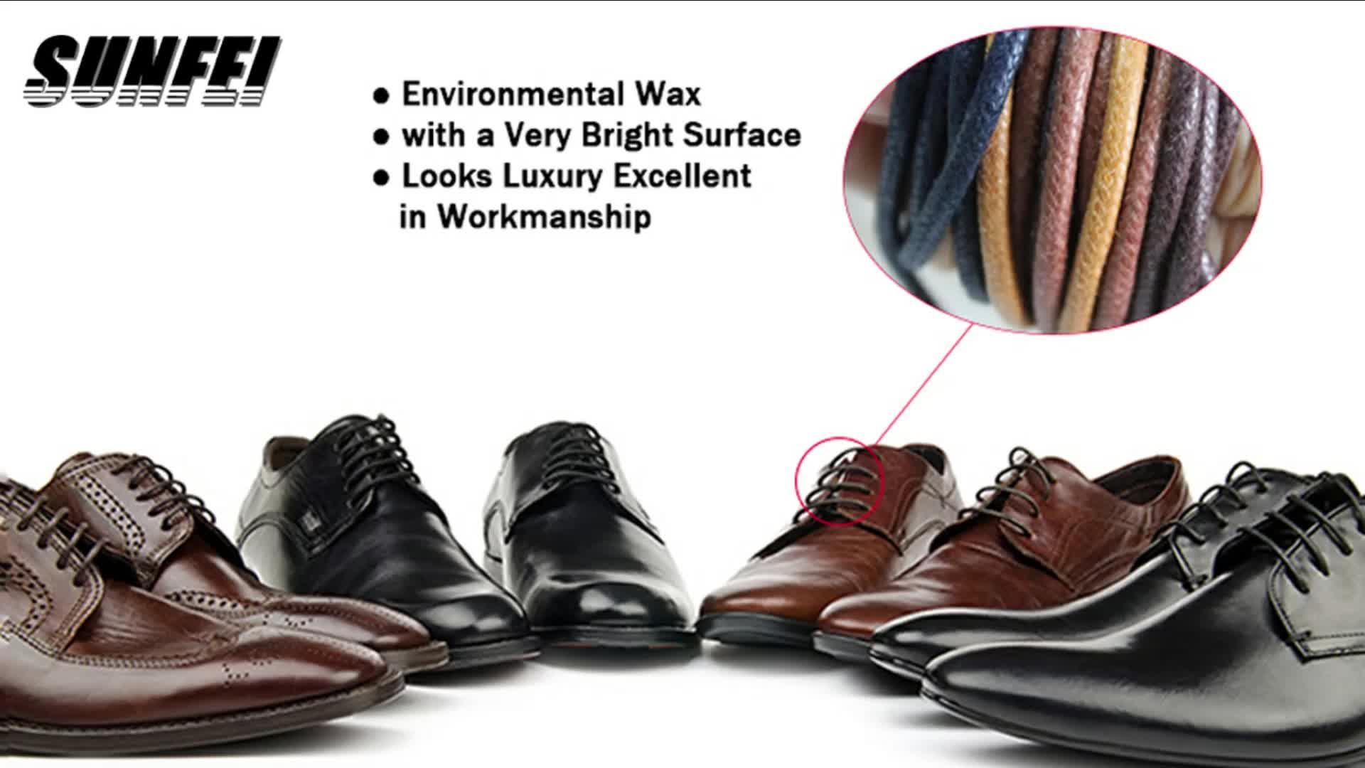 高級ダービー革靴黒ワックスレース靴ひもカスタマイズ金属先端フォーマルドレスワックス靴ひも-eBay/アマゾンサプライヤー