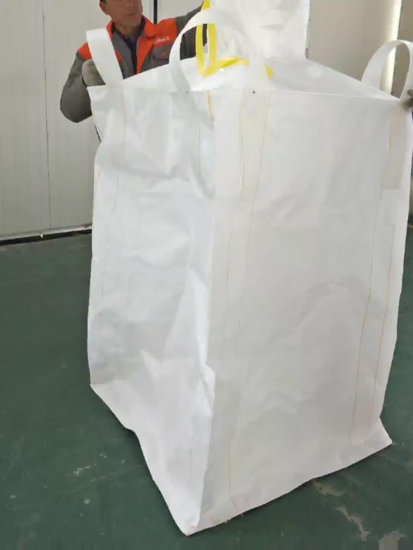 800 kg-1500 kg पीपी प्रवाहकीय जंबो बैग 1000 kg के लिए पैकेज
