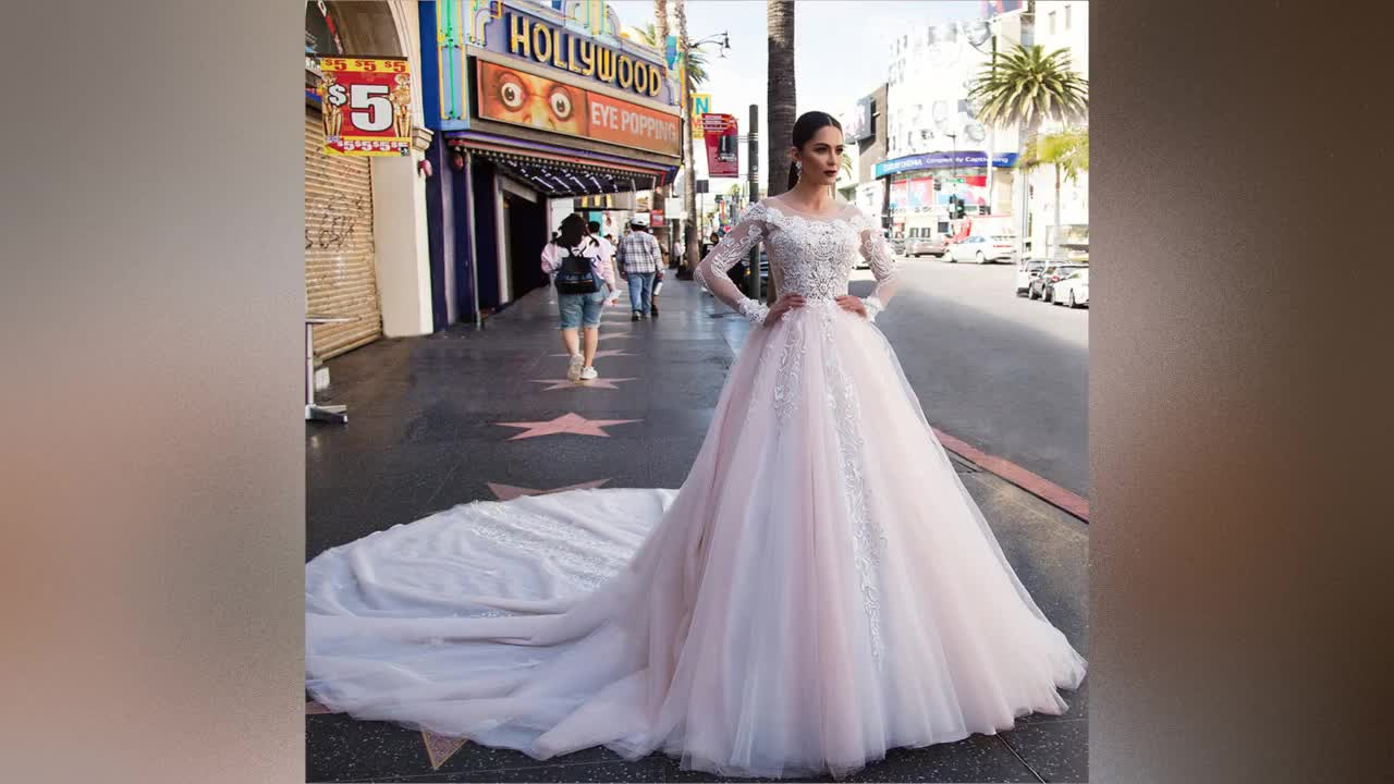 Long Sleeve Wedding Gowns Ball Gown Wedding Dresses 2019 Plus Size Bridal Gown Africa Bridal Wedding Dress Lace Bridal Gown A220