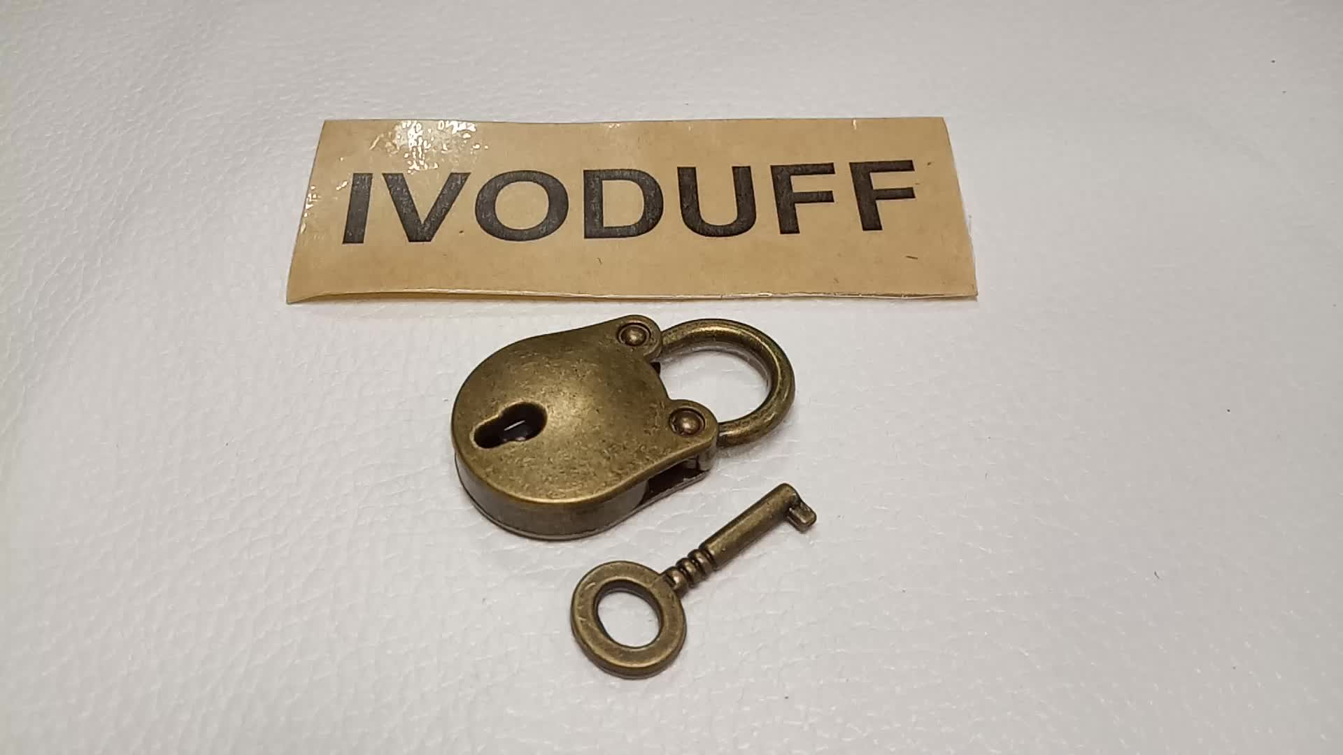 Ivoduff Wholesale Vintage Round Padlock, Antique Padlock With Key For Wood Gift Box