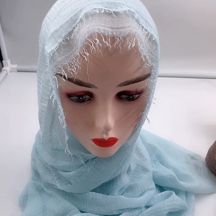 Hot sell  crinkle dyed scarf hijab shawl with high quality  used for muslim woman.