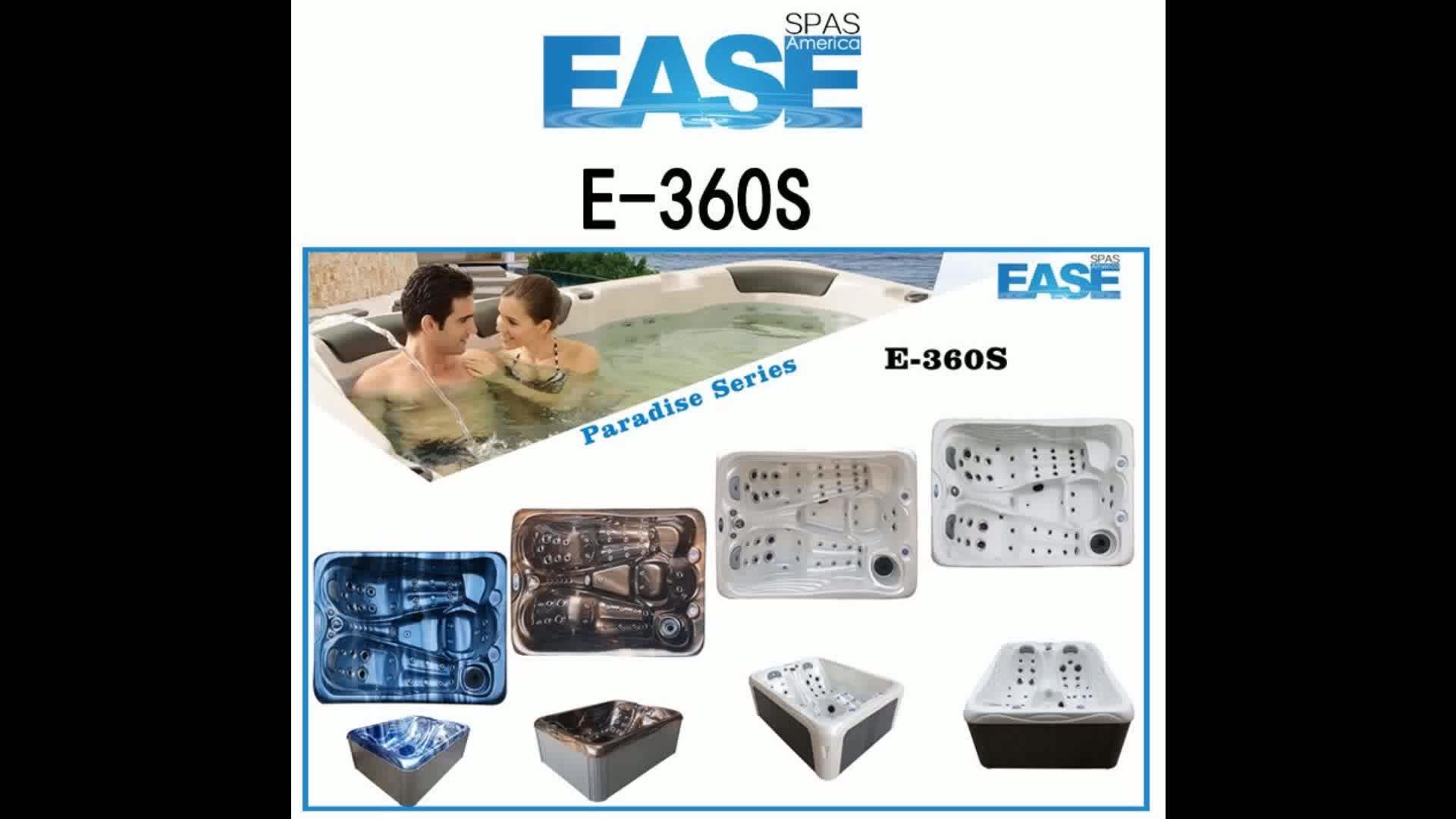 Neue Design Schokolade & perle luxus Wasserfall Led Licht ecke licht E-360S MINI Whirlpool Spa Whirlpools