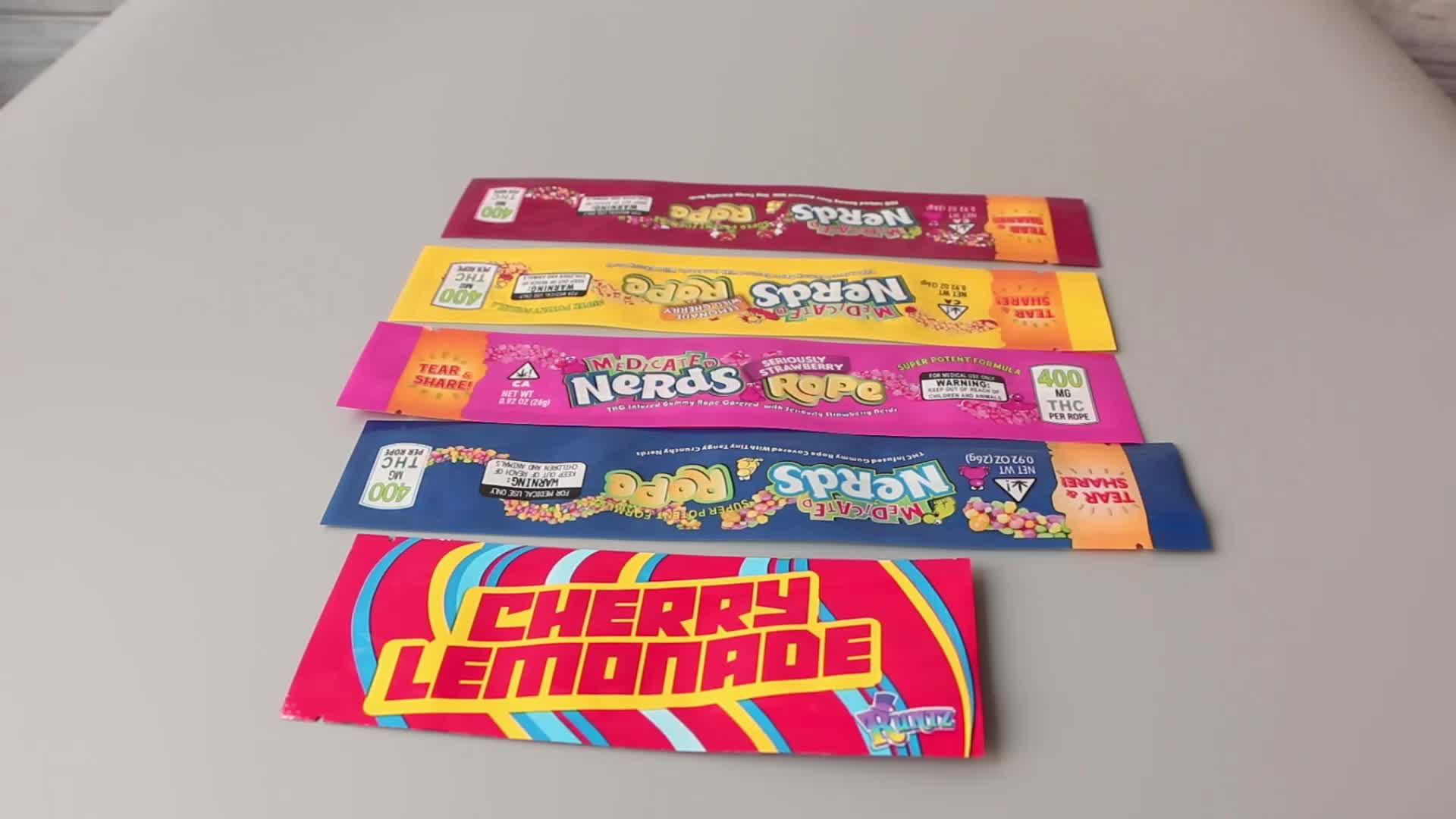 NeRds ROPE exotic car packaging Three edge-sealing bag exotic mini deodorant polyester foil Food package candy bag