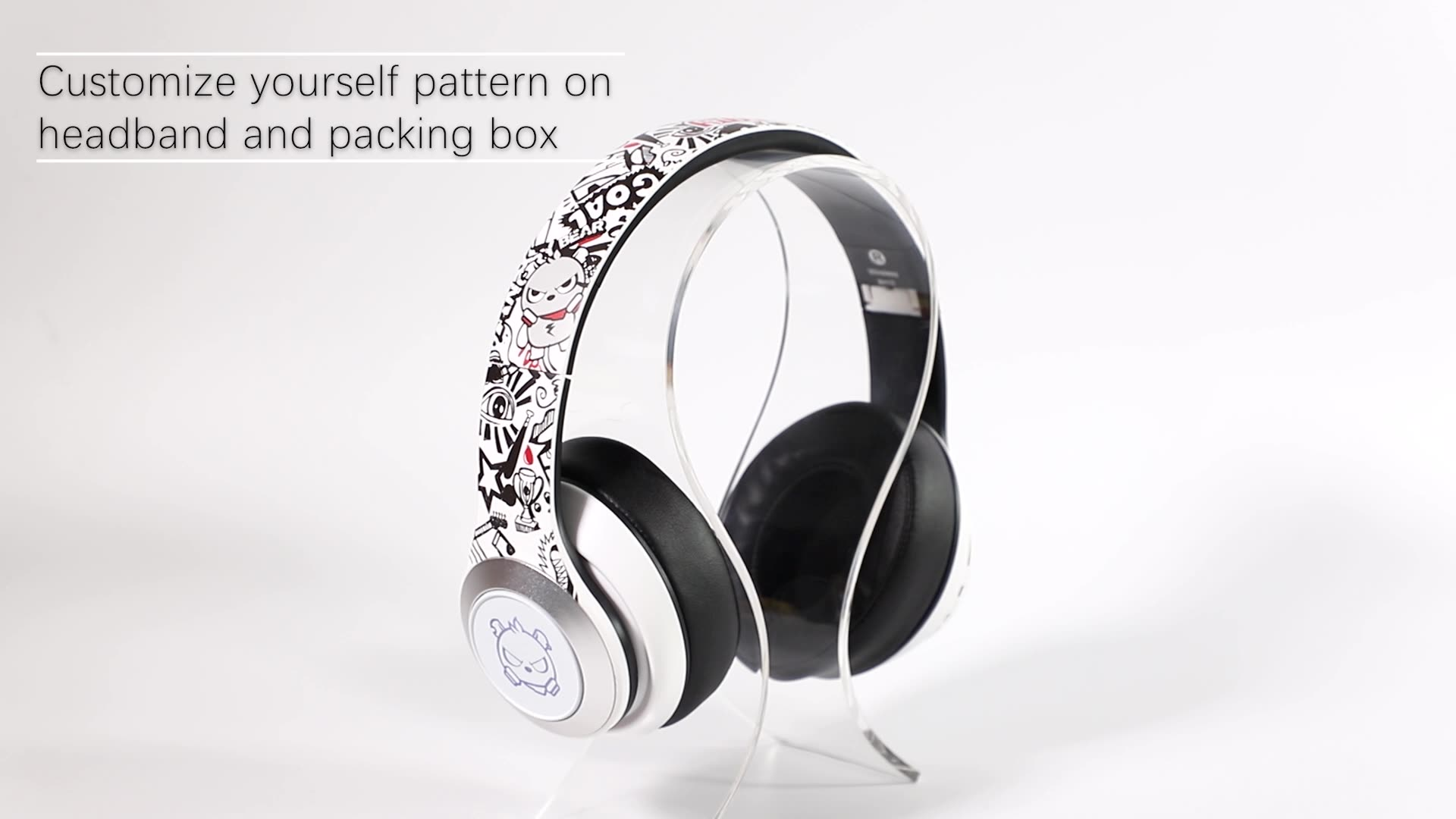 Customize Logo led light gaming headset Wireless Bluetooth Headphones with detachable microphone cables