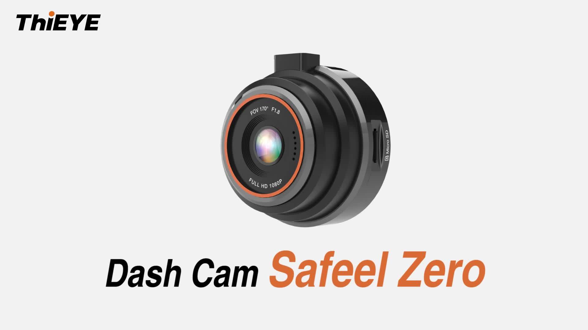 "ThiEYE Safeel Zero 1.5"" Screen 170 Wide Angle G-Sensor Loop Recording WDR Night Vision FHD 1080P DashCam Car DVR Camera Recorder"