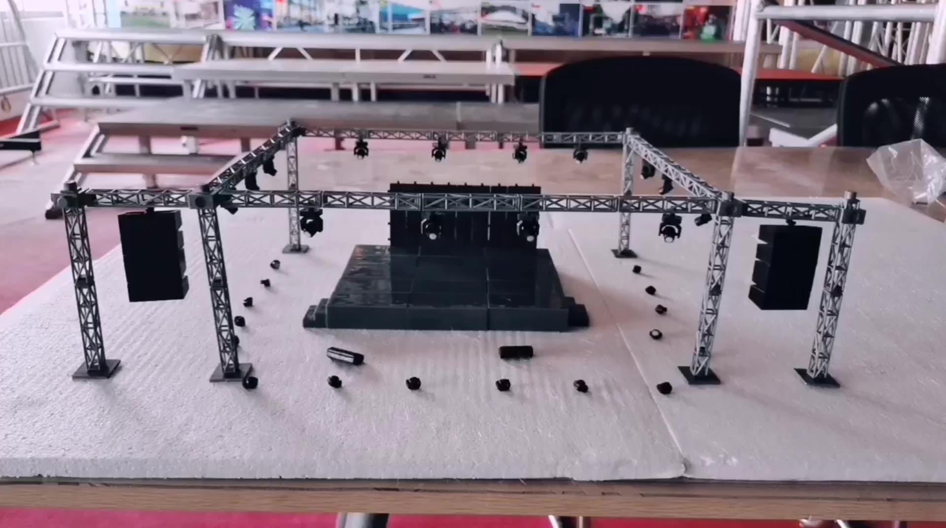 Standard Hülse Block 12-zoll Heißer Verkauf Einfach Demontage Und Transport Platz Box Truss Boden Unterstützung