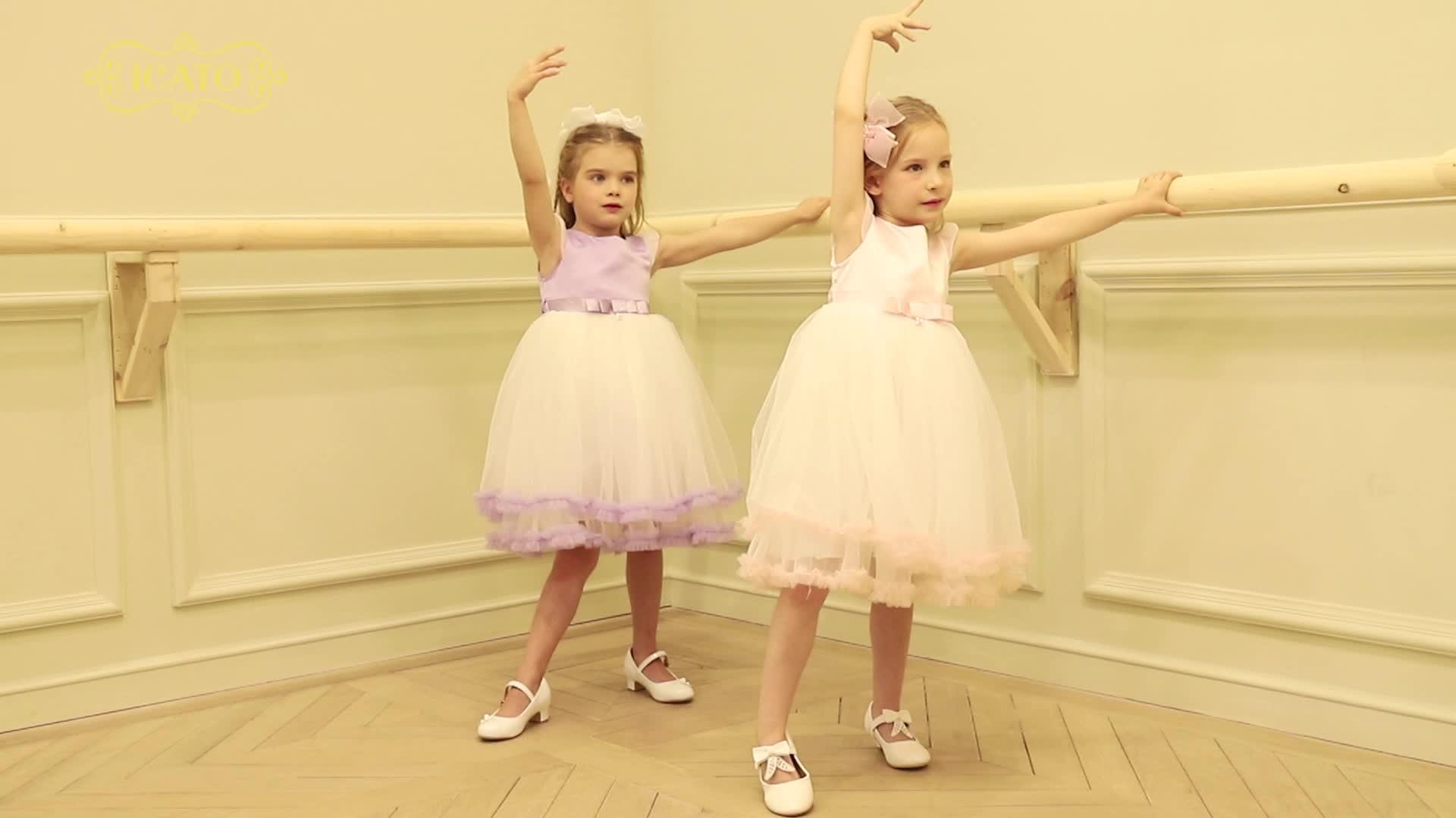 2019 babados Vestidos de Festa de Meninas branco vestido de festa de bebê para o aniversário