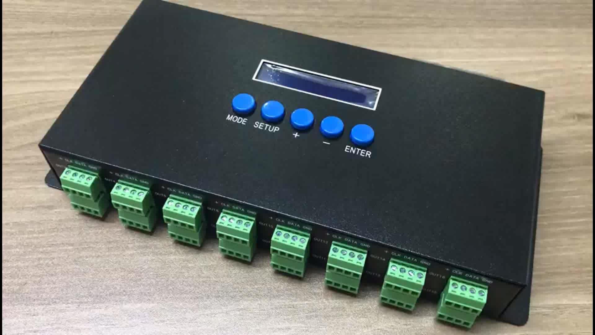 Ethernet-SPI/DMX Piksel ışık kontrolörü