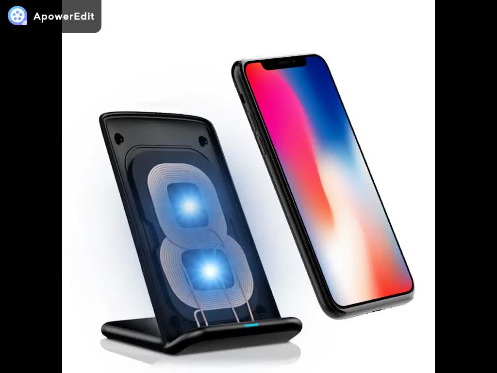 2019 Amazon Cheap Price Custom logo 10W Fast Qi Wireless Charger Stand for iPhone 6/7/8/X XS MAX