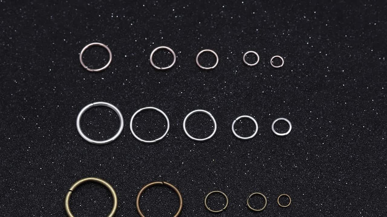 3 4 5 6 7 8 10 12mm iron Colored Connectors Open Jump Rings silver diy accessories jump ring for jewelry Mking