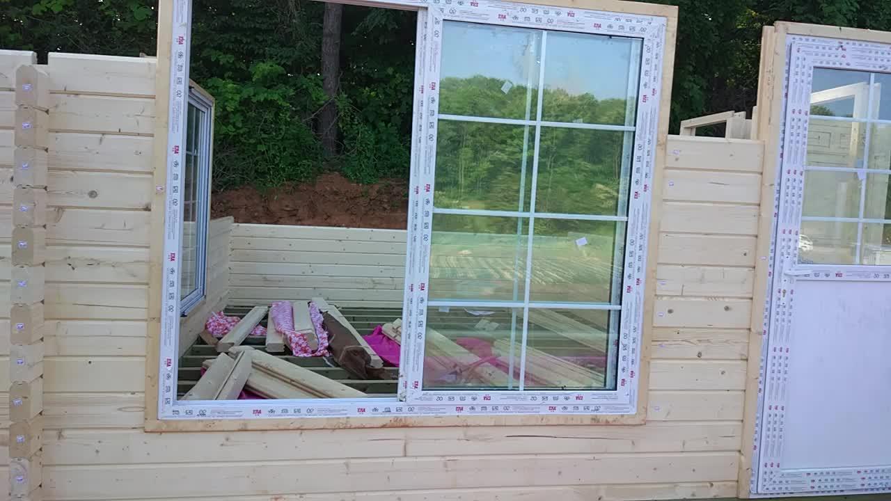 Cabane en rondins préfabriquée/petit confortable cabane en bois