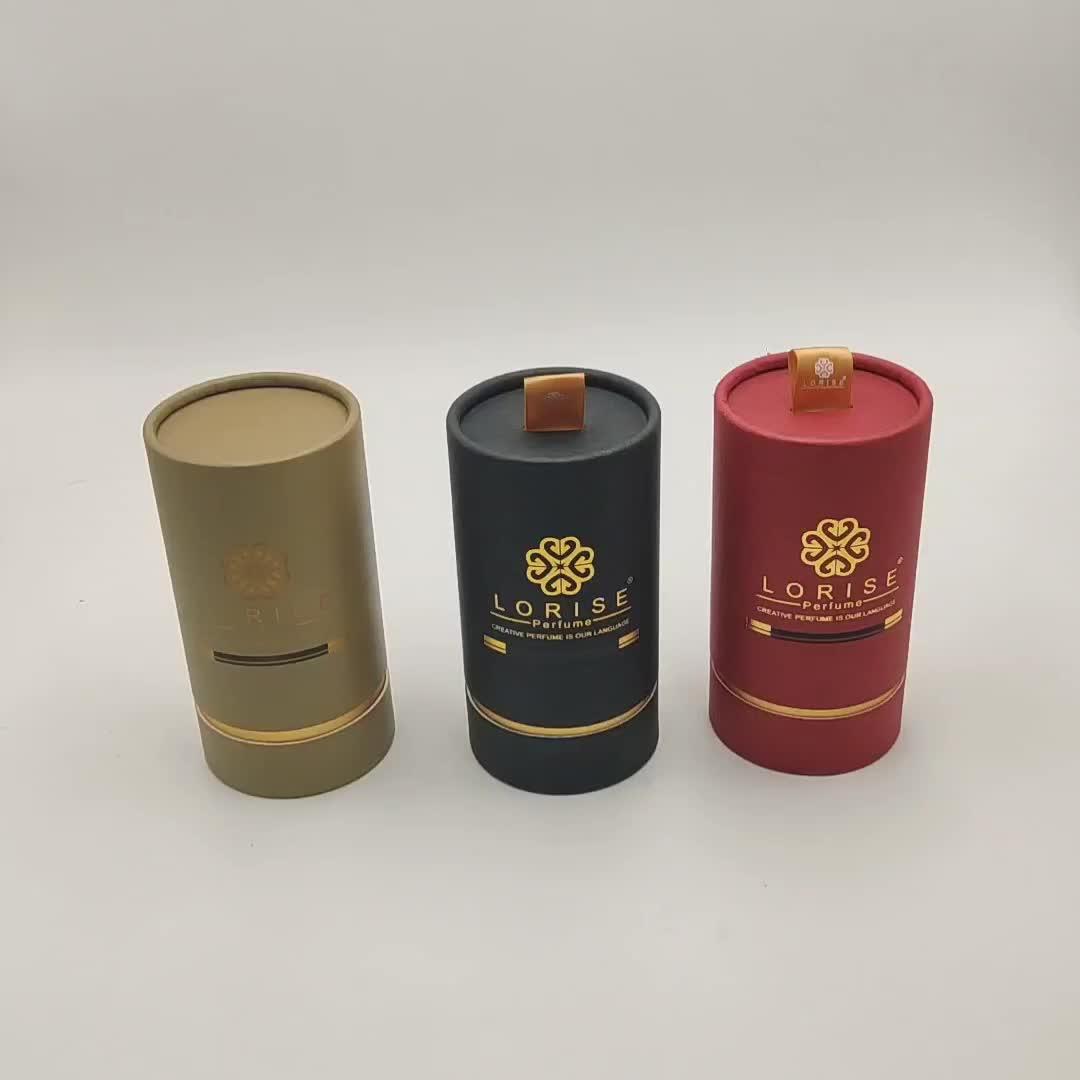 Cardboard Luxury color Perfume Bottle Cosmetic Paper Round Box Packaging