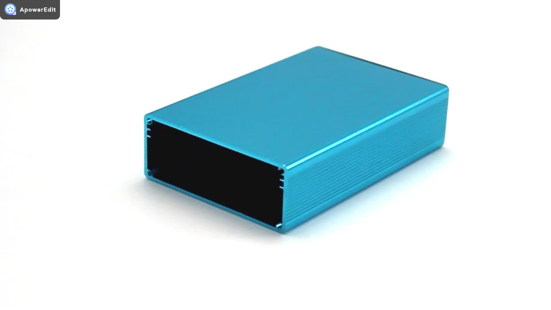 De perfil de aluminio, extrusión de aluminio caja para pcb inversor de fuente de alimentación