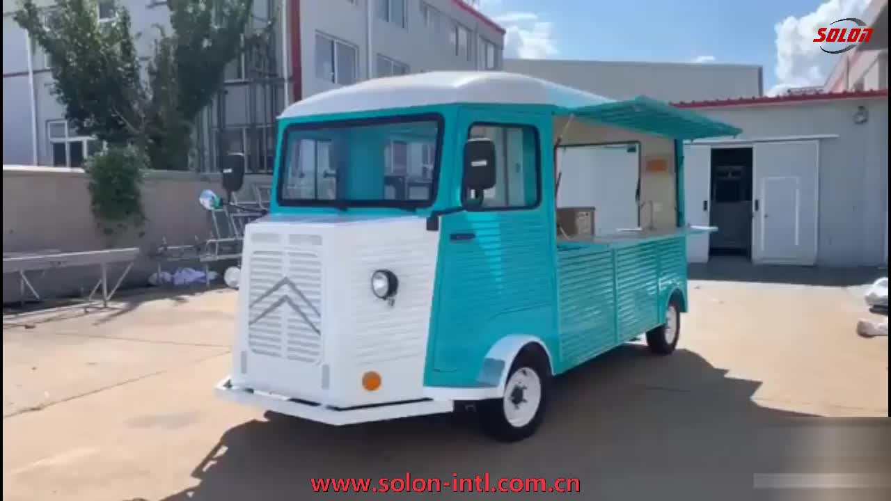 Electric citron ice crea food cart mobile fast food truck in UK
