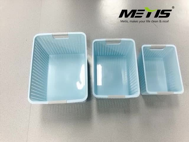 A7004-3 china factory oem japan PP plastic storage box with TPR hangle