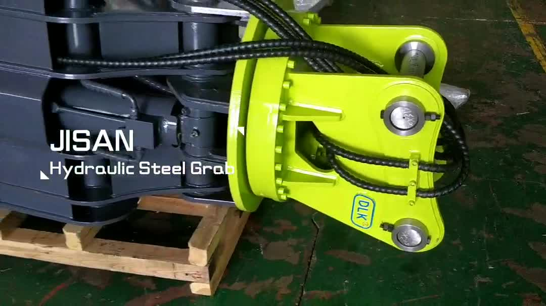 hydraulic wood grabs, excavator solid stone grab, timber grapple for 10tons excavator