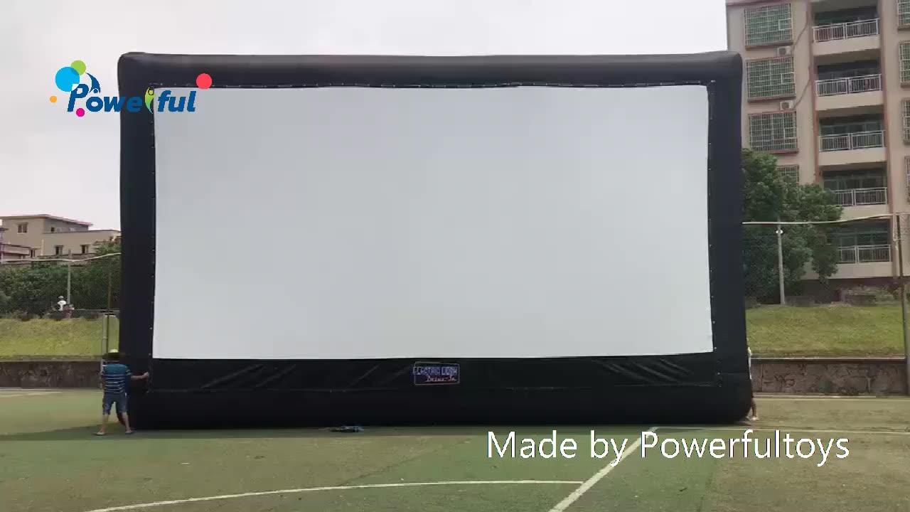 주차장 상업 프로젝션 스크린 부동 풍선 영화 스크린 드라이브 영화