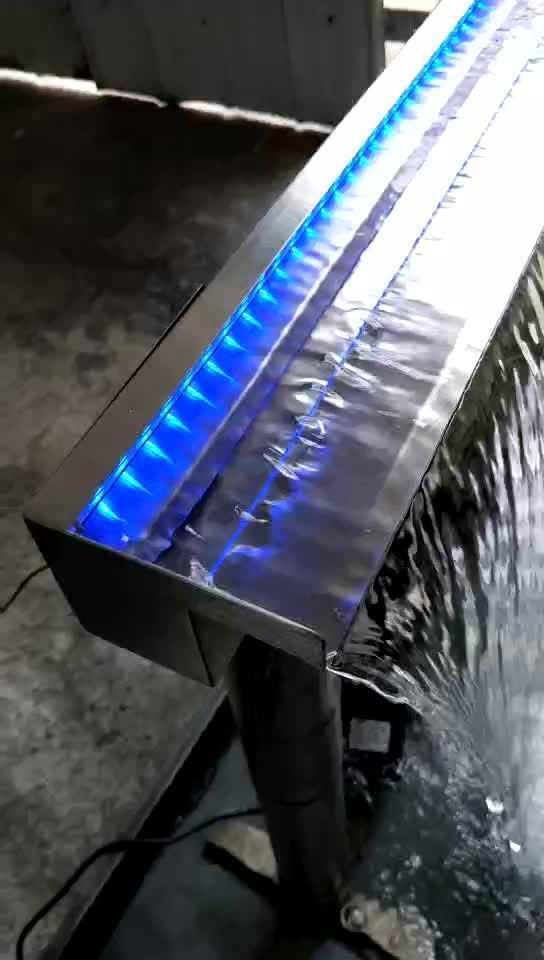 Low price stainless steel swimming pool water blade garden pond decorative spa equipment wall waterfall