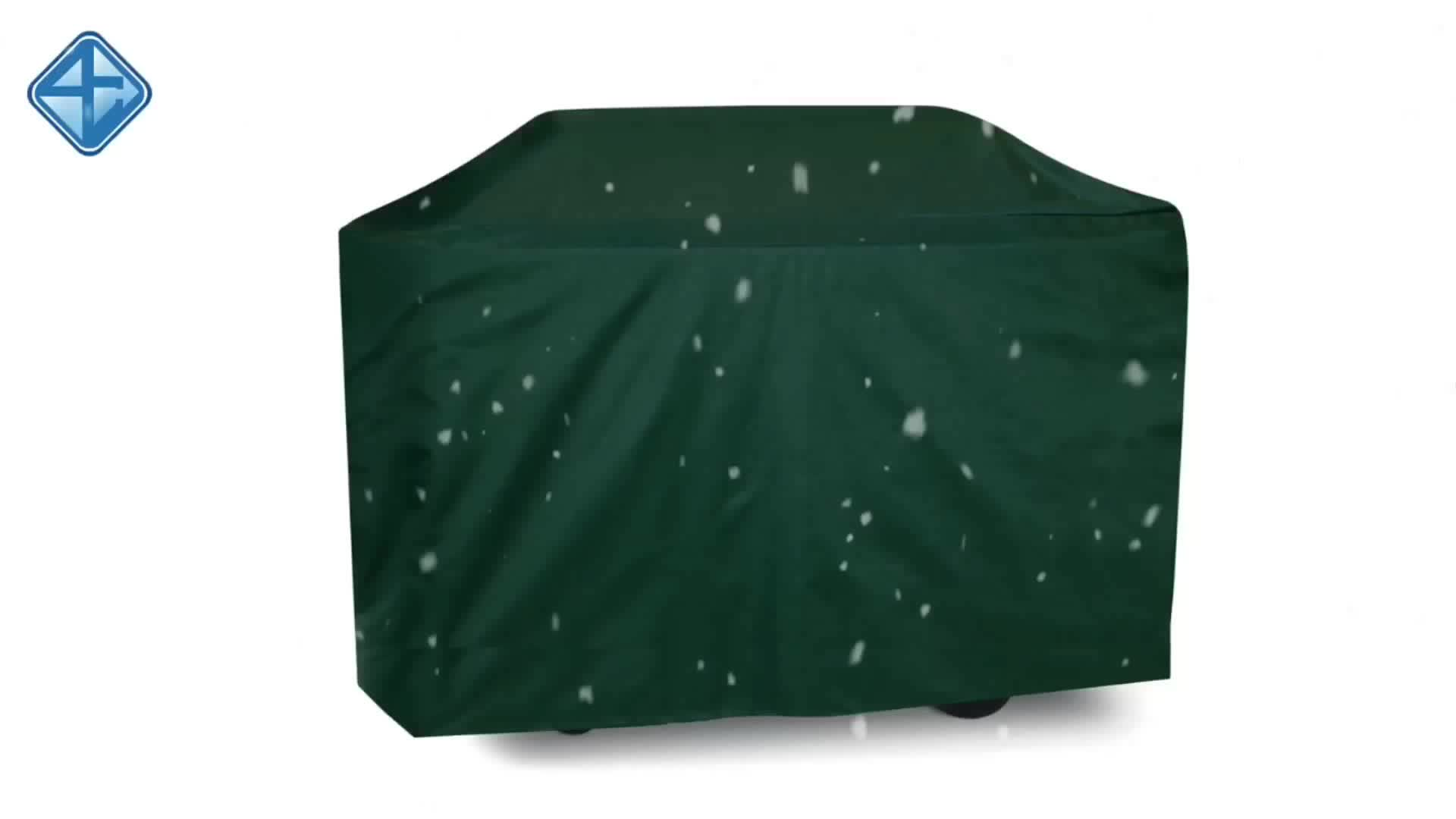 150D Outdoor Green Polyester Waterproof  BBQ Barbecue Grill Cover
